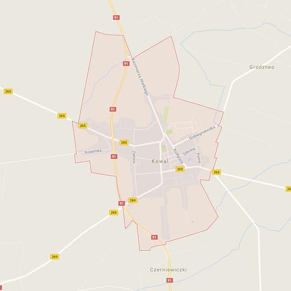 Skup aut i motocykli Kowal - mapa