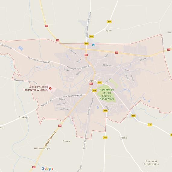 Skup aut i motocykli Lipno - mapa